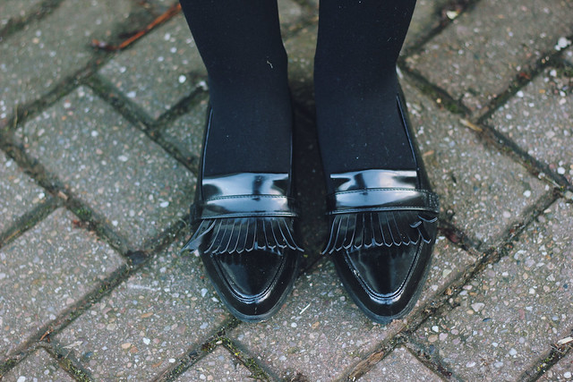 ASOS Black patent loafers