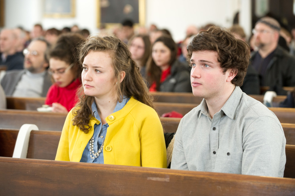 Students attend the College's annual Founders Day celebration.