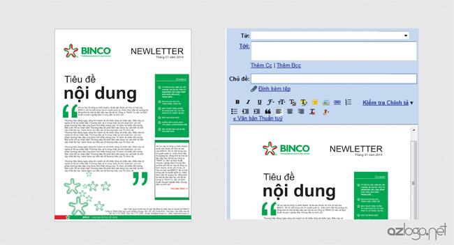 Thiết kế newlletter (Bản tin thư điện tử) công ty tư vấn du học BINCO