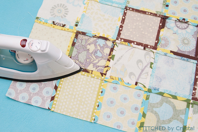 STITCHED by Crystal: Tutorial - Patchwork and minky baby blanket : sewing patchwork quilts - Adamdwight.com