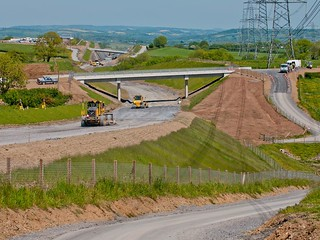 Construction of new A477 road