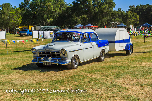 Holden Sedan With Trailer