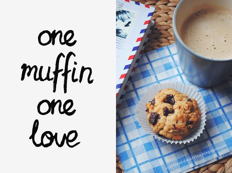 Single chocolate chip & hazelnut muffin