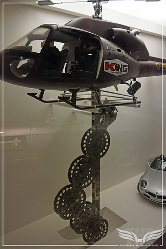 The Establishing Shot BOND IN MOTION - KING INDUSTRIES BUZZSAW HELICOPER MODEL FROM THE WORLD IS NOT ENOUGH @ LONDON FILM MUSEUM COVENT GARDEN by Craig Grobler