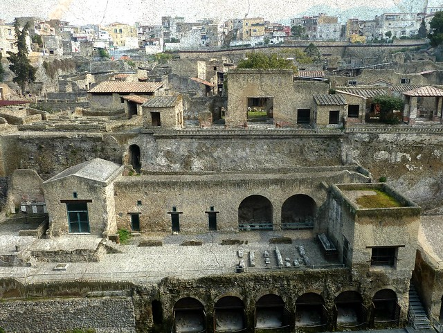 the shoreline and Herculaneum