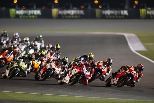 Moto GP en el anterior Gran Premio de Catar