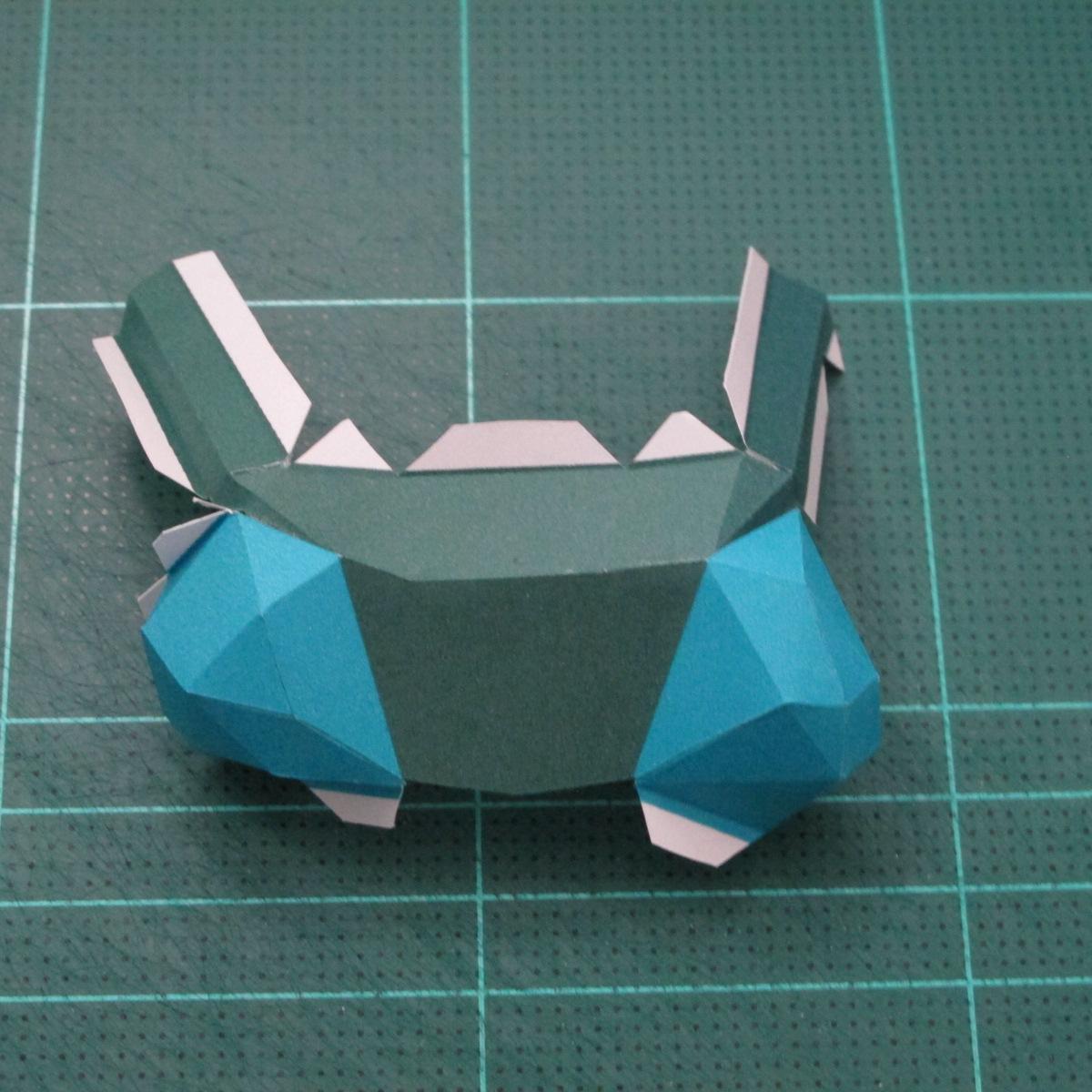 วิธีทำโมเดลกระดาษตุ้กตาคุกกี้รัน คุกกี้รสสตอเบอรี่ (LINE Cookie Run Strawberry Cookie Papercraft Model) 021