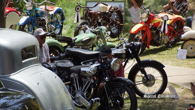 Motorcycles at Greystone Mansion Concours d'Elegance