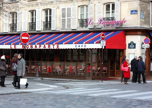 paris, tricolor, le bonaparte cafe, cafe life, פריז, טריקולור, קפה בונפרט, סן ז'רמן