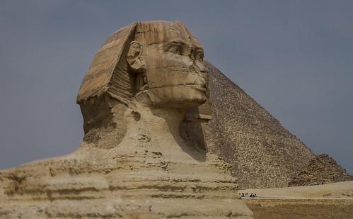 monument sphinx pyramid egypt cairo giza