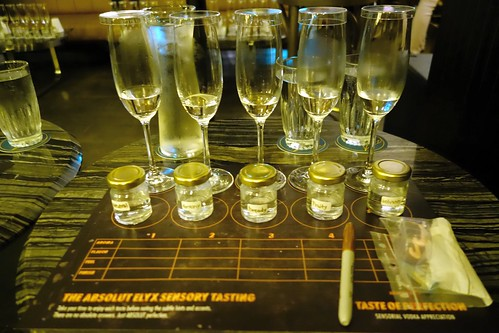 The Absolut Elyx Sensory Tasting Set Up
