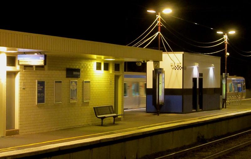 Mckinnon station: new PIDs and PSO pod on the platform