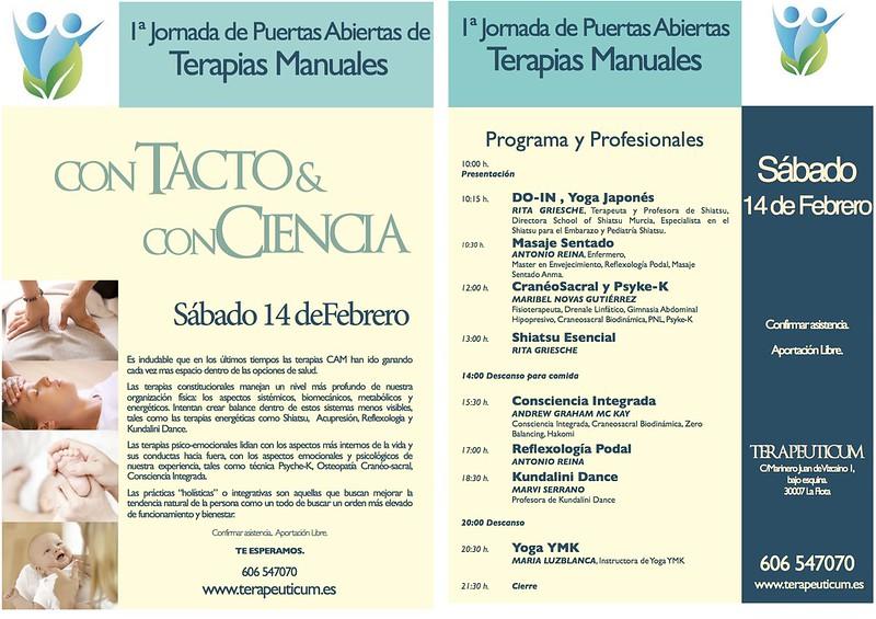 El 14 de Febrero'15 estaré presentando el Masaje Sentado Amma por la mañana en la Jornada de puertas abiertas en Terapeuticum, Murcia. Y por la tarde, Reflexología Podal.