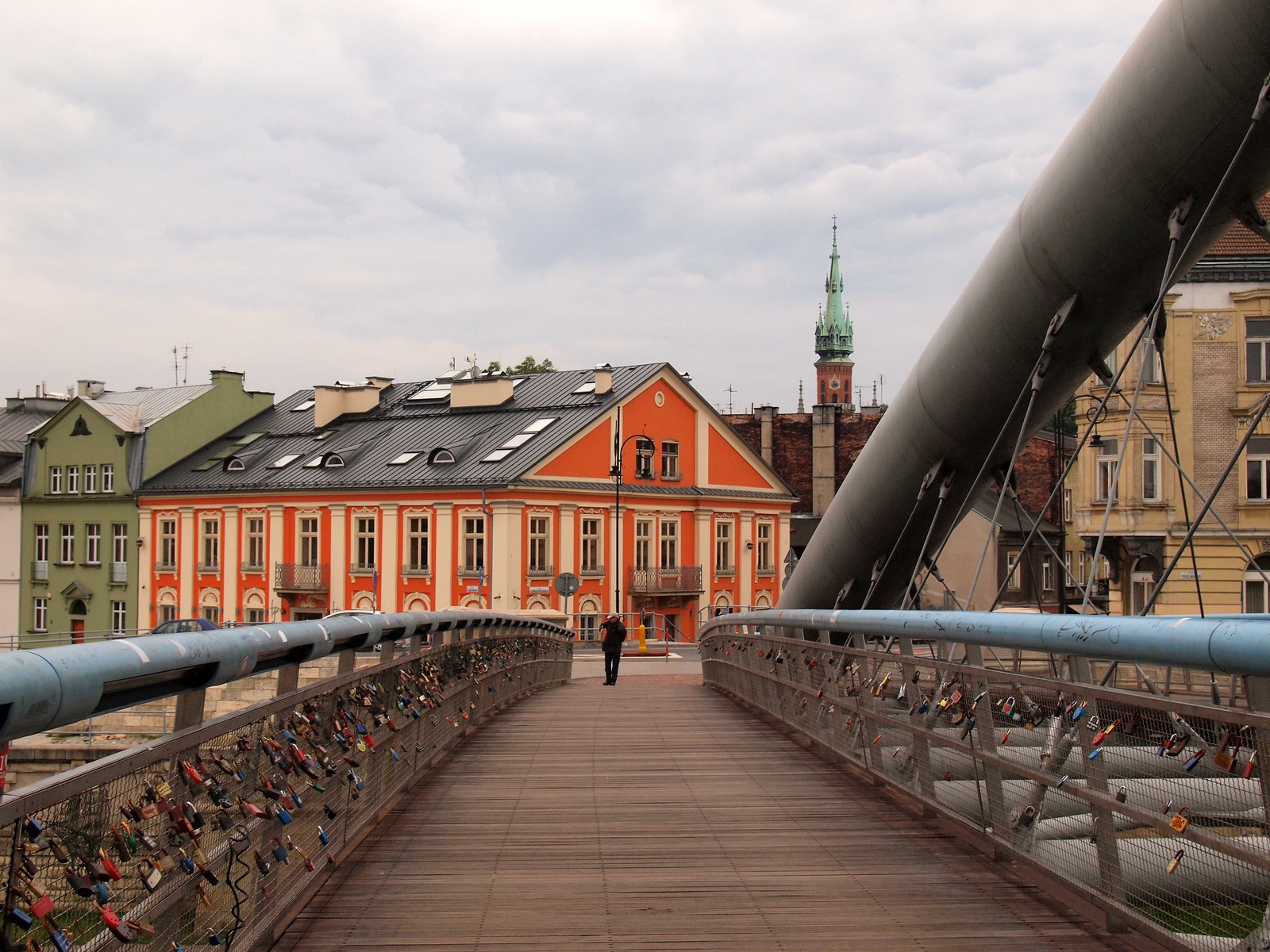 Lovers Bridge in Krakow, Poland