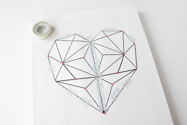 DIY geometric heart string art 04