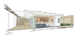 Stevens Solar Decathlon 2015 House Rendering: Interior 1