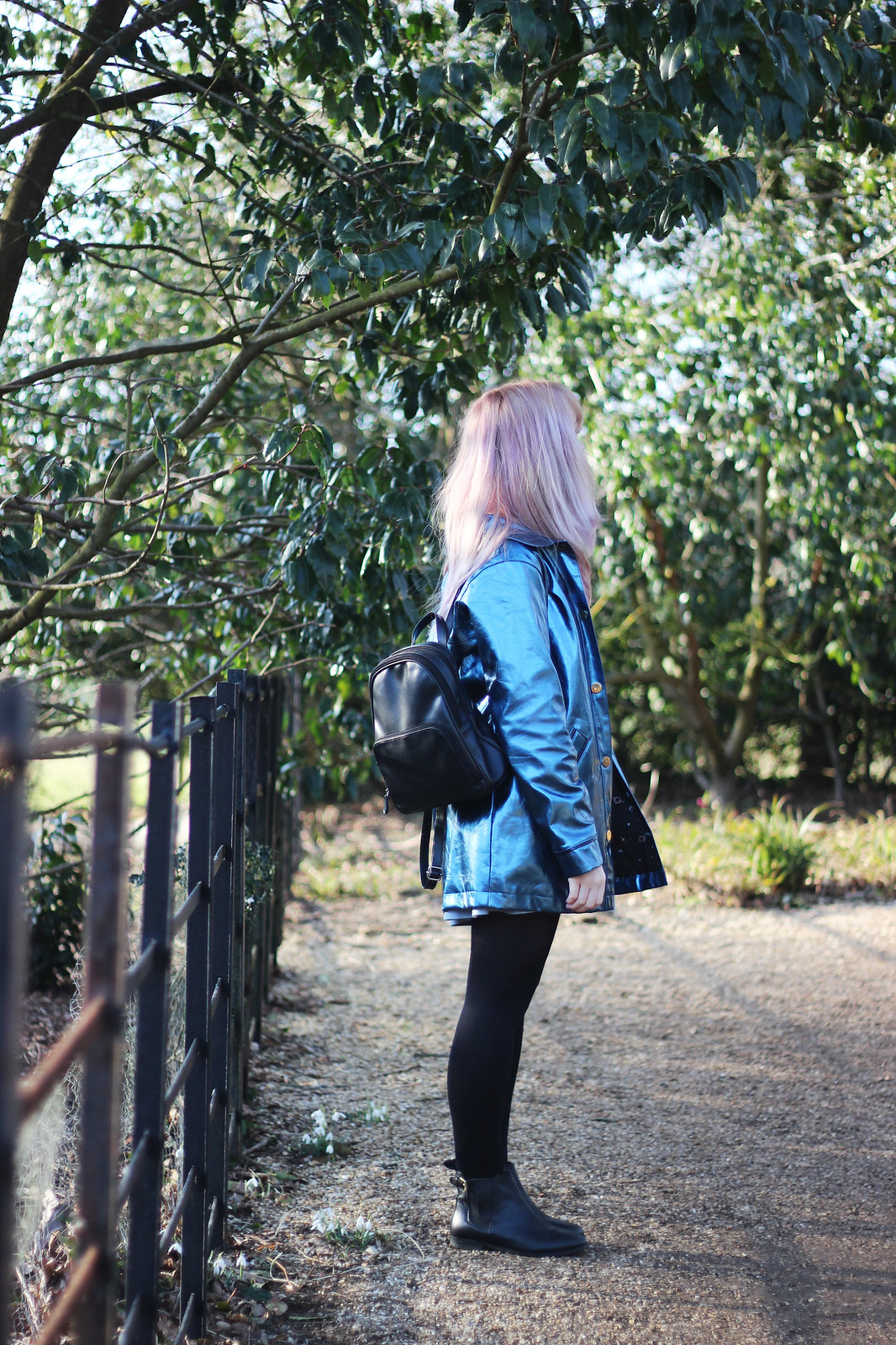 7 asos outfit pink hair, pastel hair, space mac