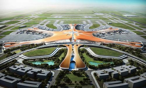 Zaha Hadid - 北京新機場T1航站初版模擬圖