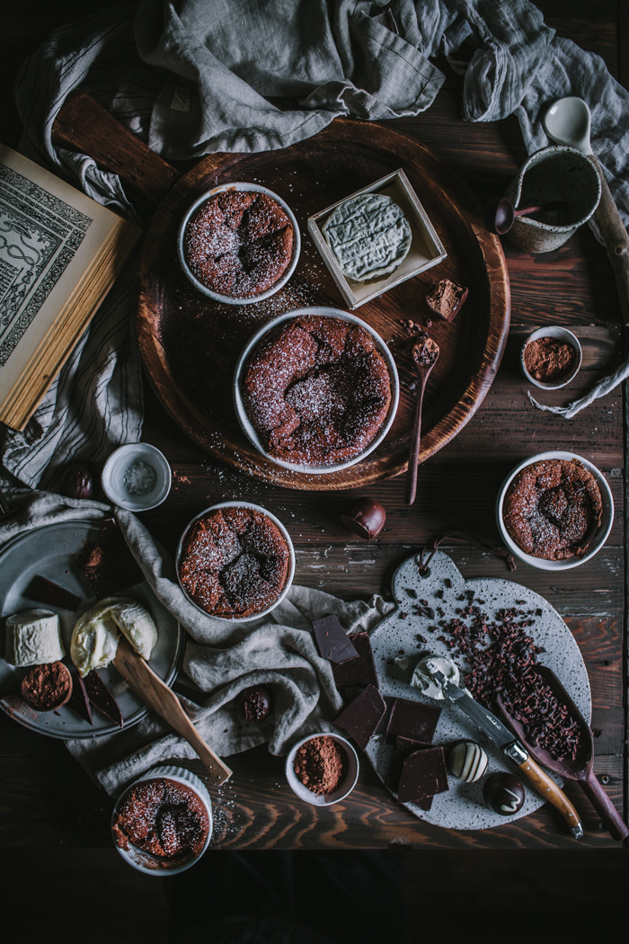 Chocolate + Goat Cheese Souffle + A Valentine's Giveaway by Eva Kosmas Flores | Adventures in Cooking