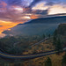 Sunrise at Rowena Crest, Oregon by brianstowell
