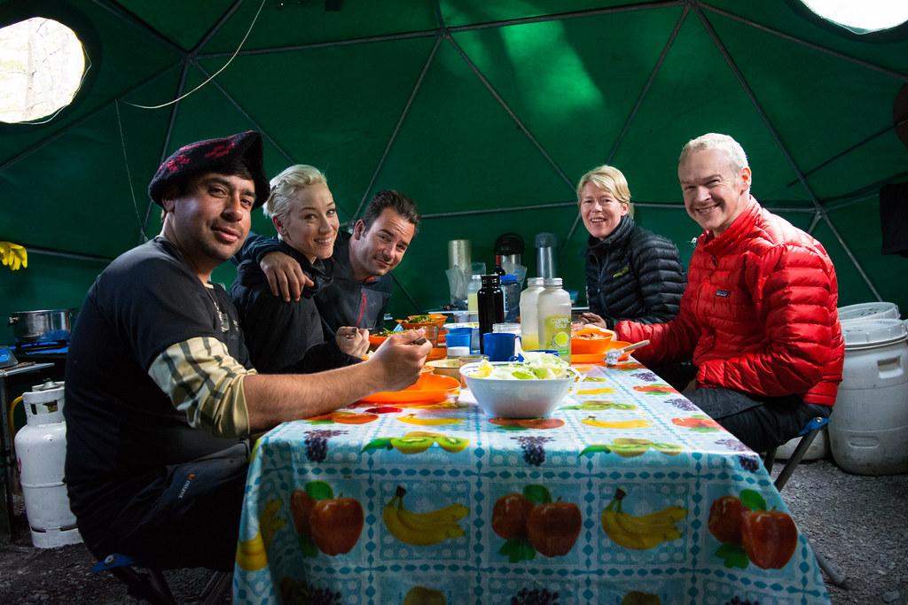 Dinner at Perros refuge