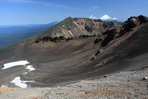 美瑛岳への稜線で