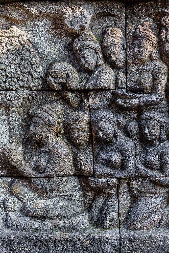 Bas releif at Borodubur Temple - Yogyakarta, Java Indonesia