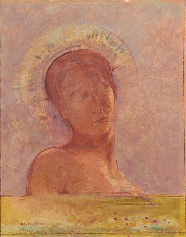 Odilon Redon - Closed eyes (1889)