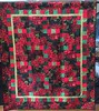 Poinsettia Eve, 69x81 inch quilt, 2015