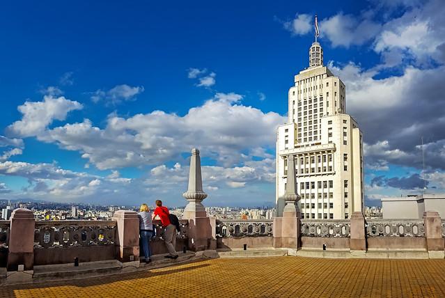 São Paulo - Mirante do Edifício Martinelli - Torre do Banespa