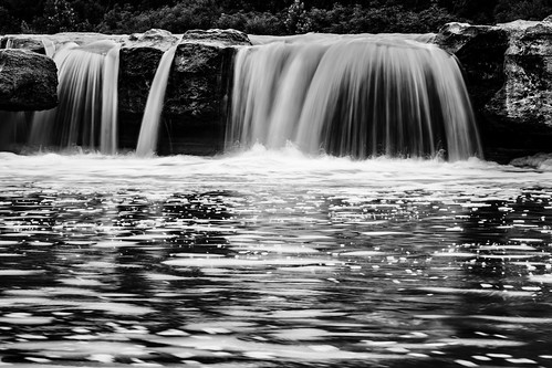 longexposure blackandwhite bw motion water rock austin outside us waterfall texas unitedstates mckinneyfallsstatepark