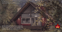 Trompe Loeil - Pomeroy Glen Cabin, Chair & Ottoman for Collabor88 July