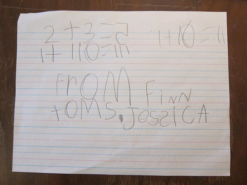 To Ms. Jessica from Finn