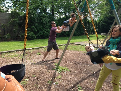 Swinging at the Park with Uncle Scott and Aunt Vanessa