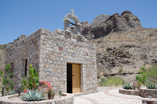 Rancho las Parras church, Loreto, Mexico