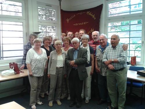 Der rote Chor der SPD Harburg zum 150 jährigen Parteijubiläum