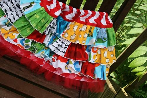 Dr. Seuss ruffle skirt