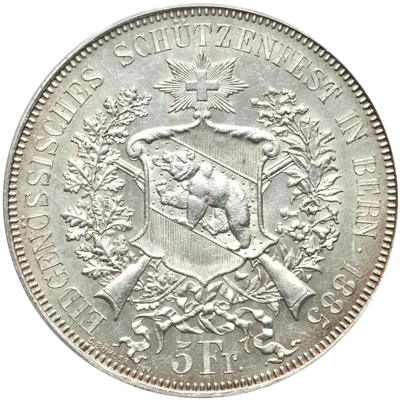 5 francos 1885. Berna, Suiza 9268925202_4bab741267_o