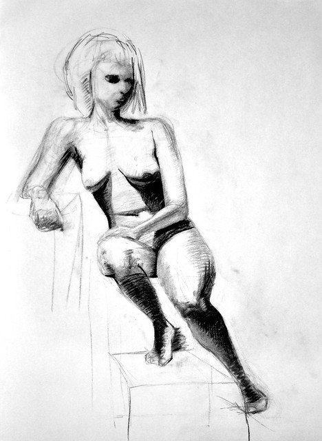 charcoal figure drawing 7/19/13