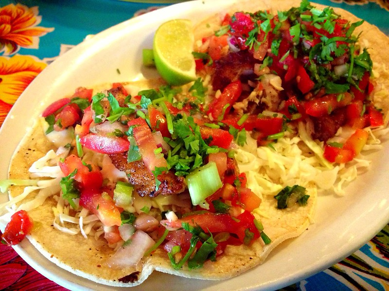 Grilled Snapper Fish Tacos at Joe's Tacos