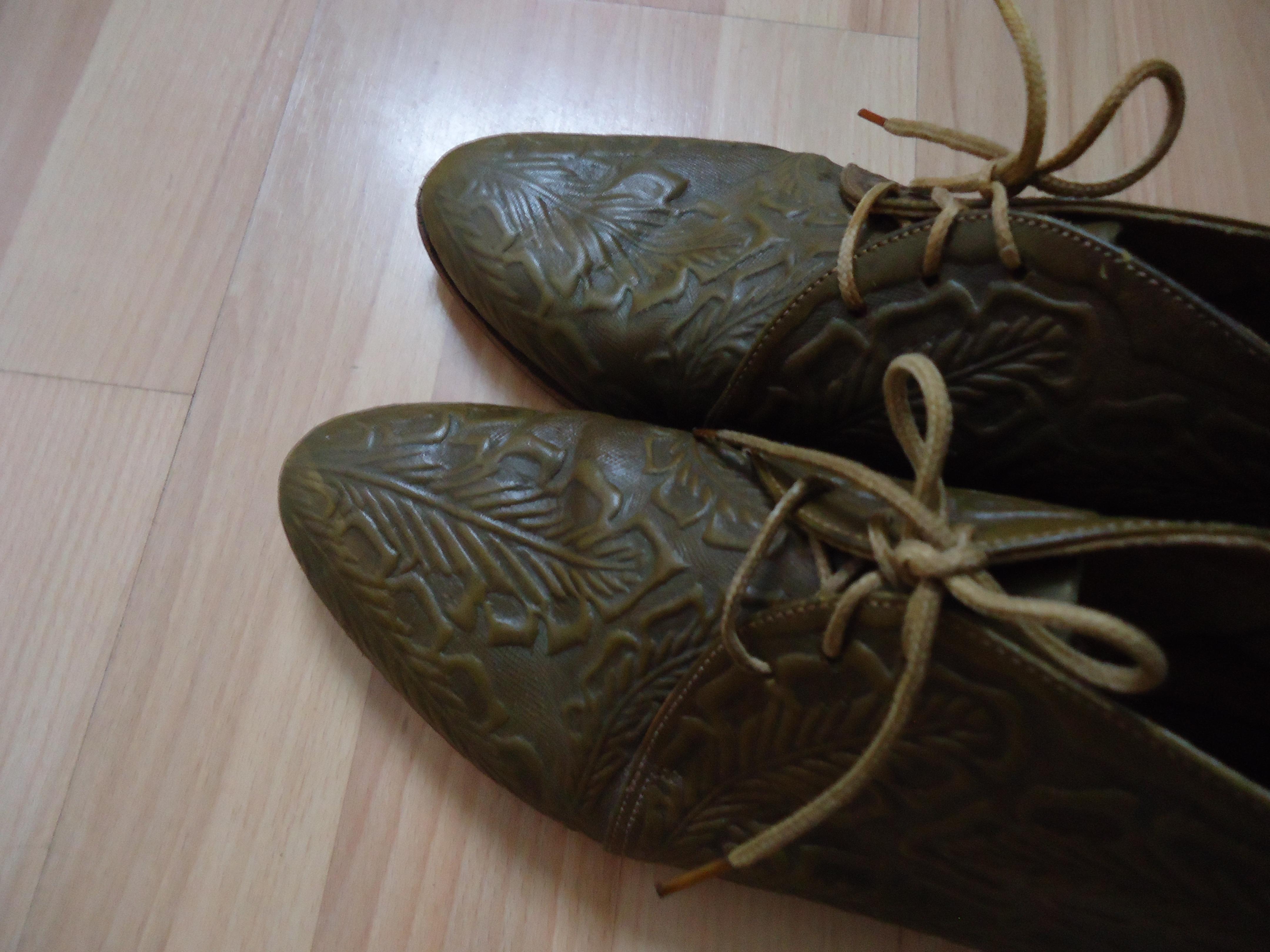 Irene & Irene Vintage Tooled Leather Booties