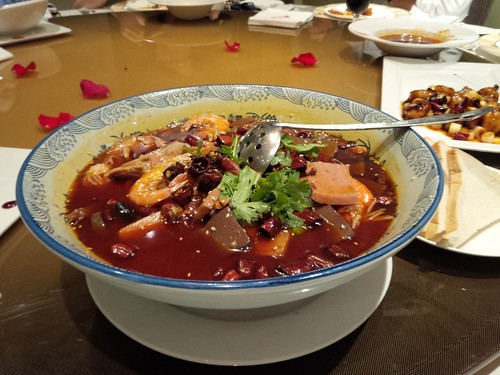 Some oily Sichuan pot with Wonder bread
