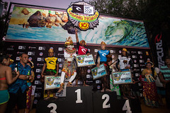 2013 Padang Finalists: Alik Rudiarta (4th), Raditya Rondi (3rd), Jacob Willcox (2nd) and champion Mega Semadhi. Credit: Mick Curley