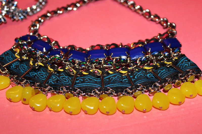 african+print+beaded+necklace
