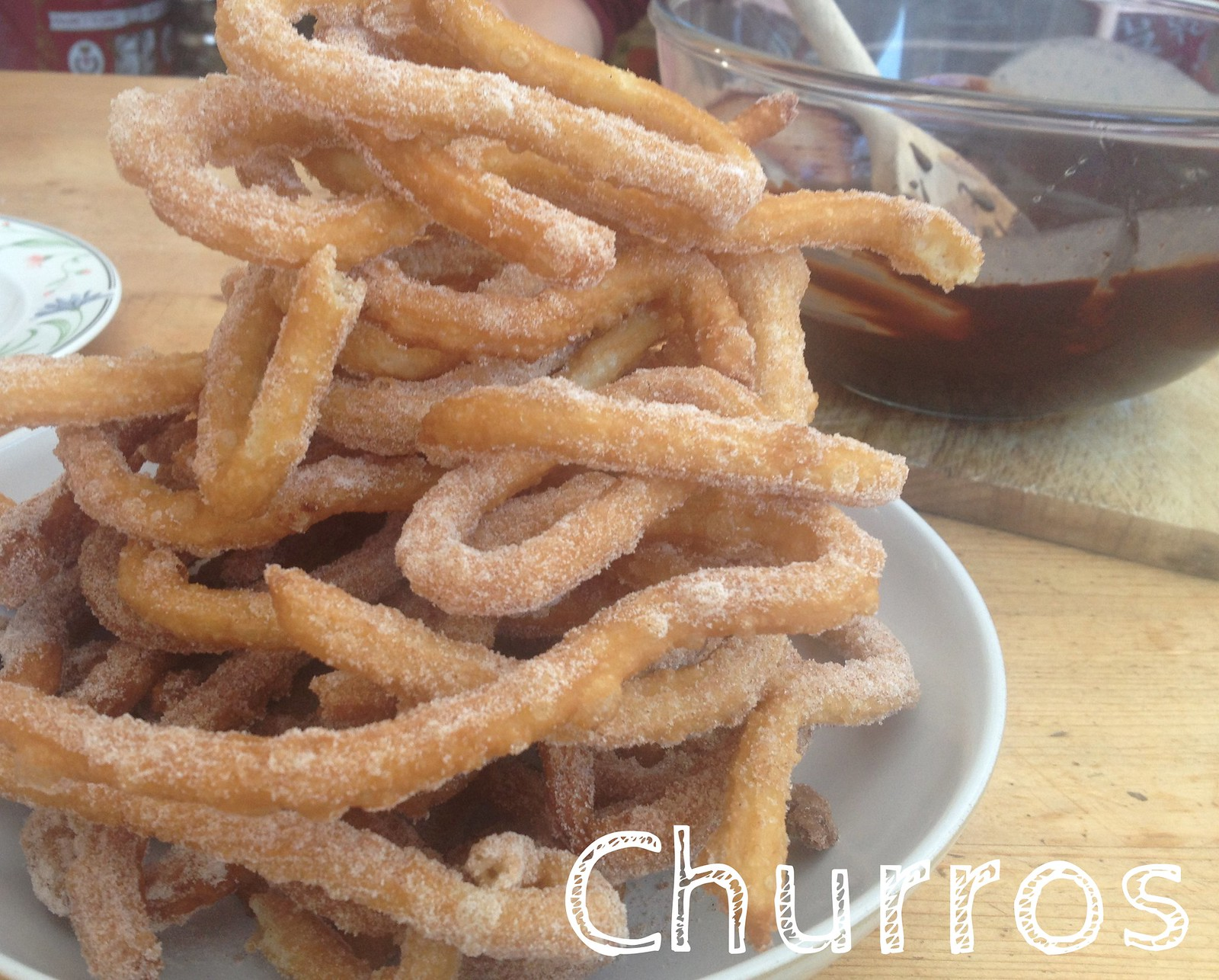Homemade Churros and Chocolate Sauce