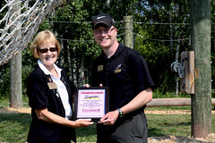 Challenge Course Ribbon Cutting