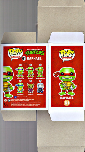 "FUNKO 'POP TELEVISION' :: TEENAGE MUTANT NINJA TURTLES - ""RAPHAEL"" #61 ;  Limited SDCC Exclusive Vynil Figure ..box i (( 2012 ))"