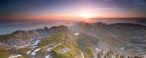 sunrise canon eos schweiz switzerland rocks hiking stones mark iii shift berge nd 5d 24mm alpen tobias grad tilt sonnenaufgang tse appenzell säntis alpstein saentis tiltshift knoch schwägalp visipix shiftpanorama