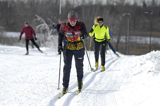 Crpss Country Skiers in Three Rivers Park District