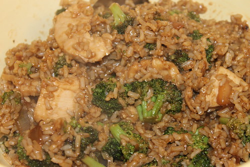 Stir-Fried Rice with Broccoli and Chicken